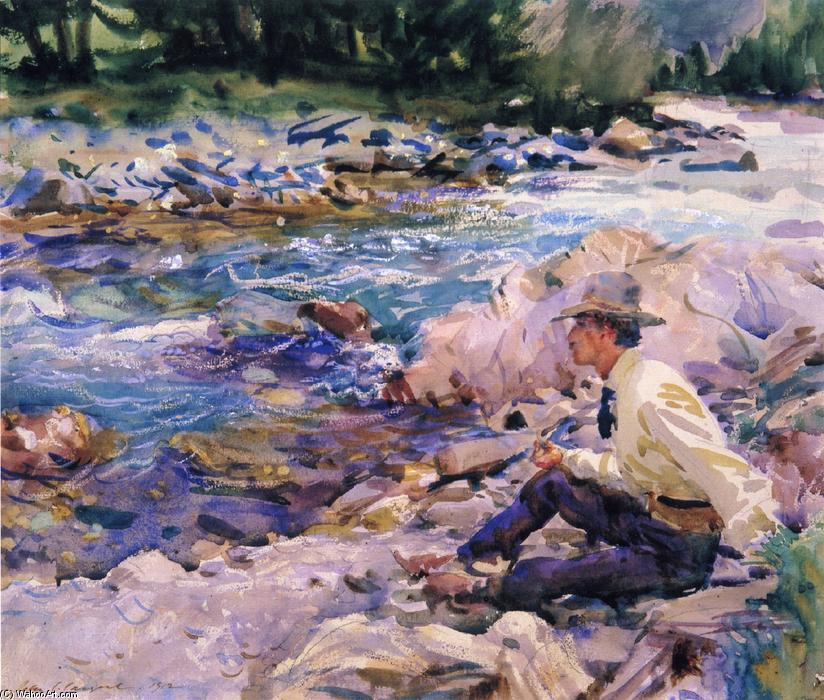 famous painting Man Seated by a Stream of John Singer Sargent