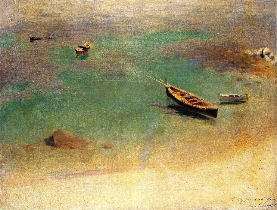 famous painting Boat in the Waters off Capri of John Singer Sargent
