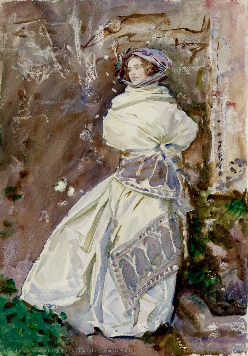 famous painting The Cashmere Shawl of John Singer Sargent
