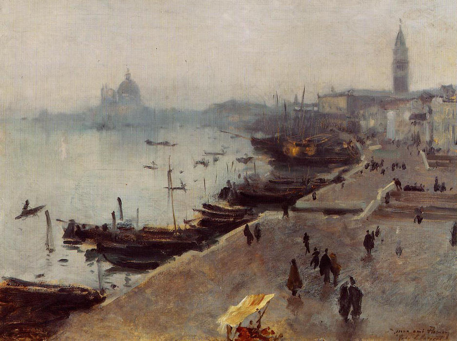 famous painting Venice in Grey Weather of John Singer Sargent