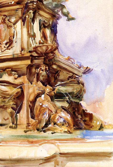 famous painting The Great Fountain of Bologna of John Singer Sargent