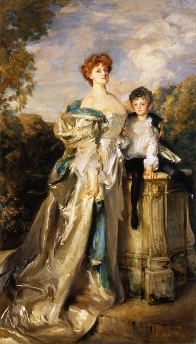 famous painting Lady Warwick and her Son of John Singer Sargent