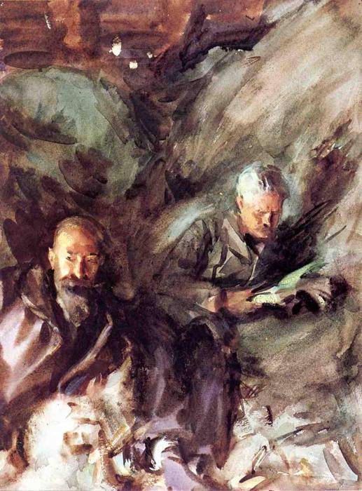 famous painting In a Hayloft of John Singer Sargent
