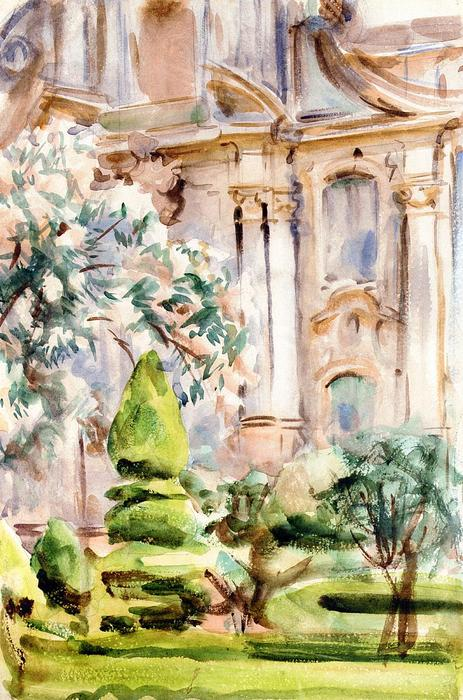 famous painting Palace and Gardens, Spain of John Singer Sargent