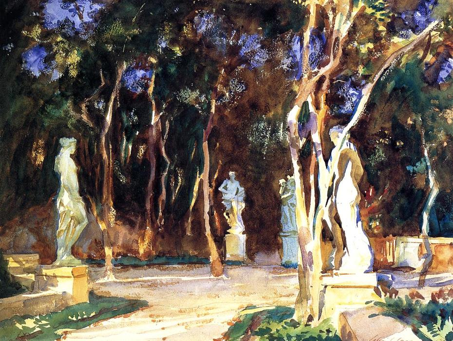 famous painting Shady Paths, Vizcaya of John Singer Sargent