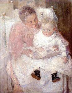 Julian Alden Weir - Mother and Child
