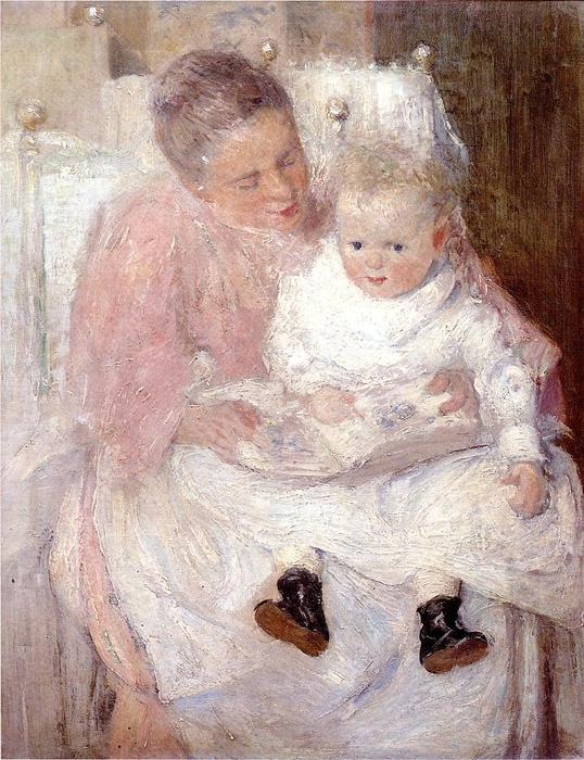 famous painting Mother and Child of Julian Alden Weir