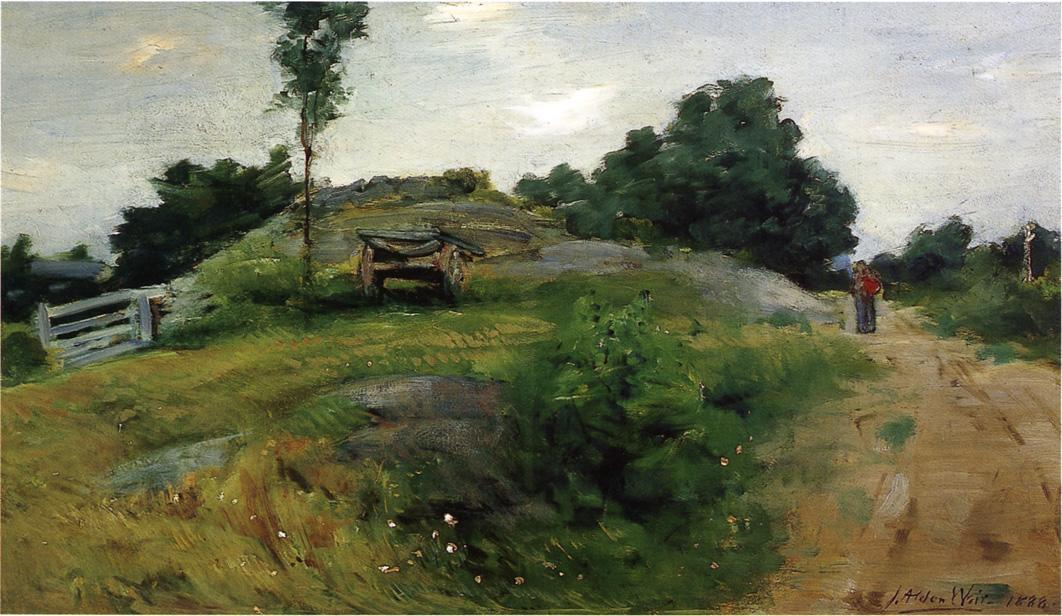 famous painting Connecticut Scene of Julian Alden Weir