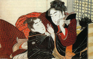 Kitagawa Utamaro - A scene from the 'Poem of the Pillow'