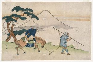 Kitagawa Utamaro - Travels Looking at Mt. Fuji