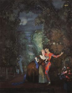 Konstantin Somov - Lady and Harlequin