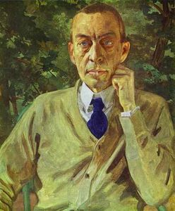 Konstantin Somov - Portrait of the composer Sergei Rachmaninov