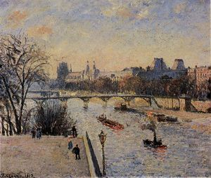 Camille Pissarro - The Louvre 2