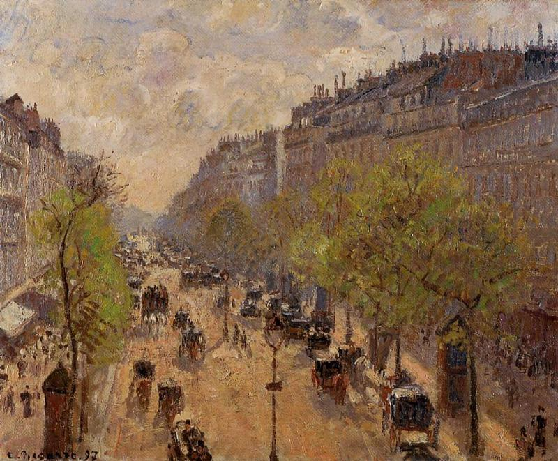 famous painting Boulevard Montmartre, Spring of Camille Pissarro