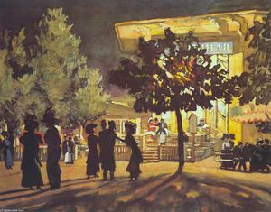 Konstantin Yuon - The Night. Tverskoy Boulevard