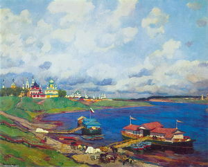 Konstantin Yuon - Morning in Uglich