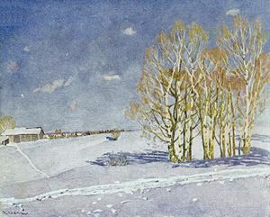 Konstantin Yuon - The Blue Winter Day