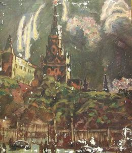 Konstantin Yuon - Stage design ''The Red Square''