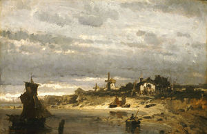 Konstantinos Volanakis - Village on a Dutch Coast