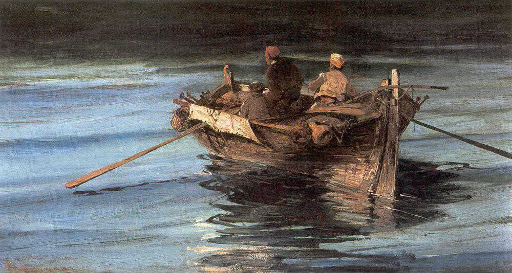 famous painting Fishing boat of Konstantinos Volanakis