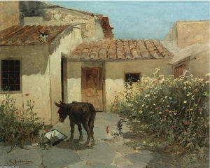 Konstantinos Volanakis - In the garden