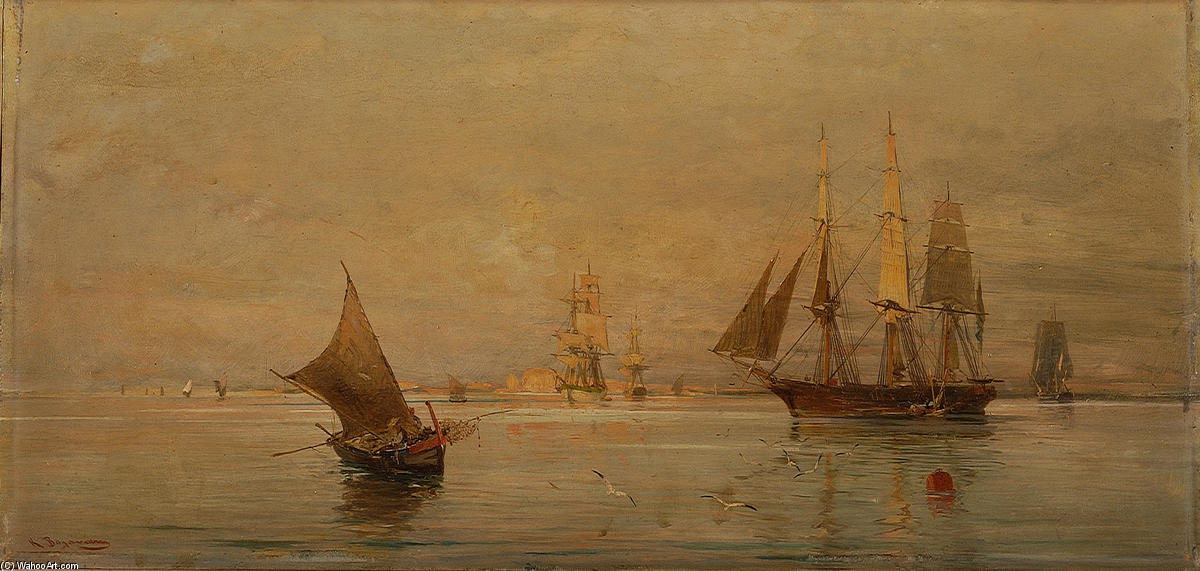 famous painting The morning catch of Konstantinos Volanakis