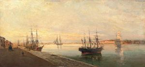 Konstantinos Volanakis - The port of Volos