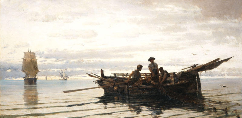 famous painting Collecting the Nets of Konstantinos Volanakis