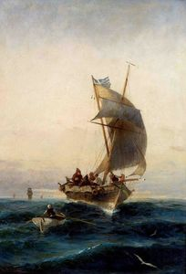 Konstantinos Volanakis - Fishing boat on choppy waters