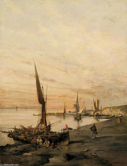 famous painting Sunset over the bay of Konstantinos Volanakis