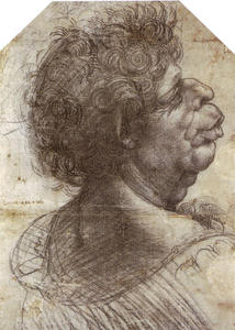 Leonardo Da Vinci - A Grotesque Head Grotesque head