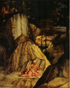Lorenzo Lotto - St. Jerome Meditating in the Desert