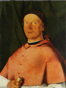 Lorenzo Lotto - Portrait of Bishop Bernardo de' Rossi