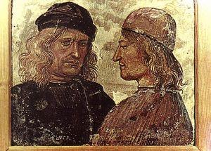 Luca Signorelli - Self-portrait with Vitelozzo Vitelli