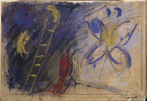 Marc Chagall - Study to ''The Jacob's Dream''