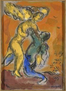 Marc Chagall - Jacob Wrestling with the Angel