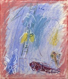 Marc Chagall - 'Study to ''The Jacob's Dream'''