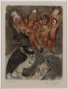Marc Chagall - Sarah and angels