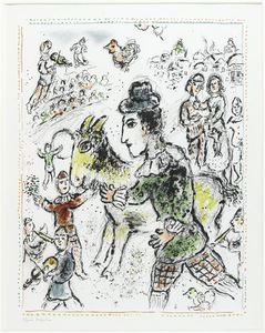 Marc Chagall - Clown with the yellow goat