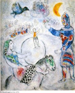 Marc Chagall - The large gray circus