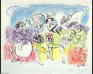 Marc Chagall - The circus musicians