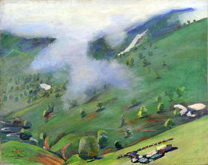 Martiros Saryan - View of the Gorge from the Pushkin Pass