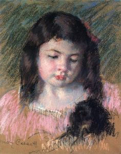 Mary Stevenson Cassatt - Bust of Francoise Looking Down