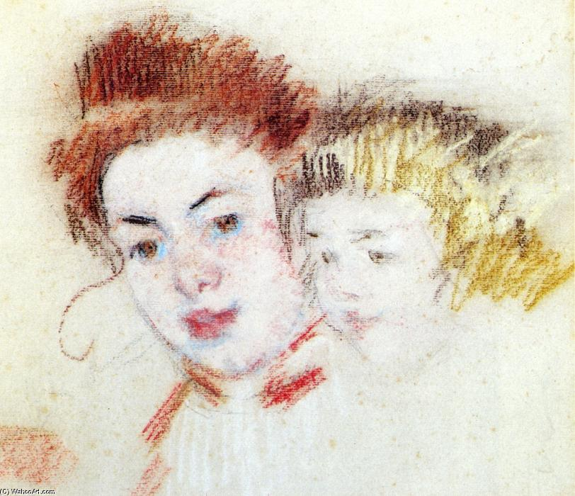 famous painting Sketch of Reine and Child of Mary Stevenson Cassatt