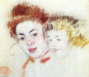Mary Stevenson Cassatt - Sketch of Reine and Child