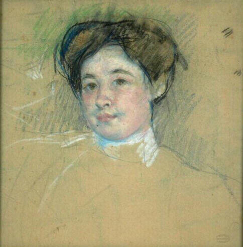 famous painting Portrait of young woman of Mary Stevenson Cassatt