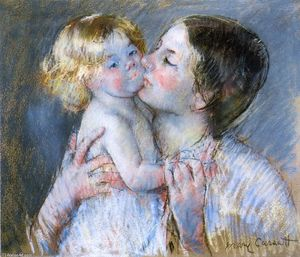 Mary Stevenson Cassatt - A Kiss for Baby Anne (no. 3)