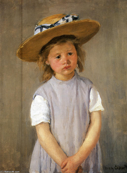 famous painting Child In A Straw Hat of Mary Stevenson Cassatt