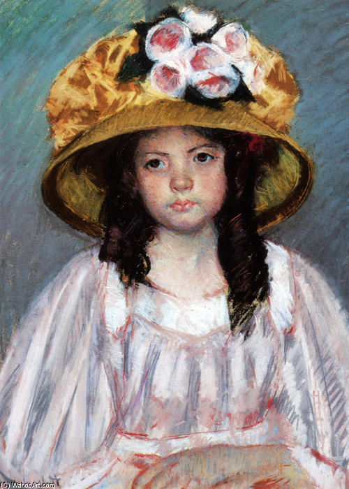 famous painting Girl In Large Hat of Mary Stevenson Cassatt