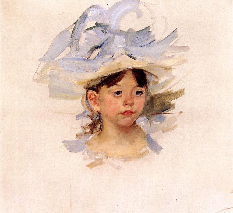 famous painting Sketch of Ellen My Cassatt in a Big Blue Hat of Mary Stevenson Cassatt